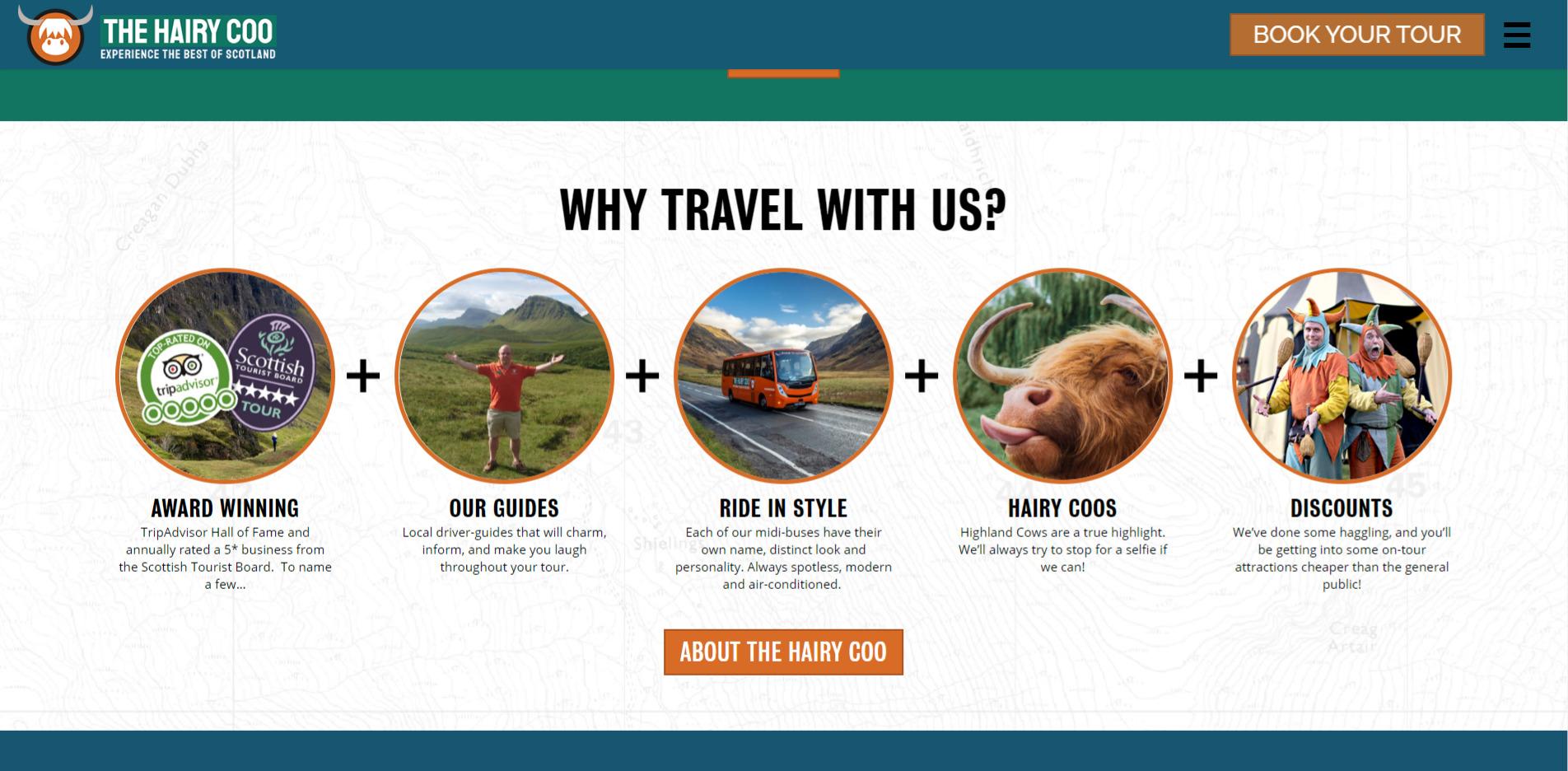 Hairy Coo Website Design 2020 Information