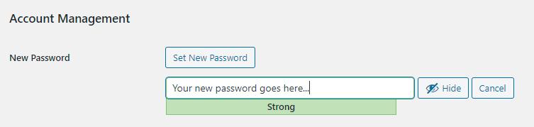 Adding New User Passwords