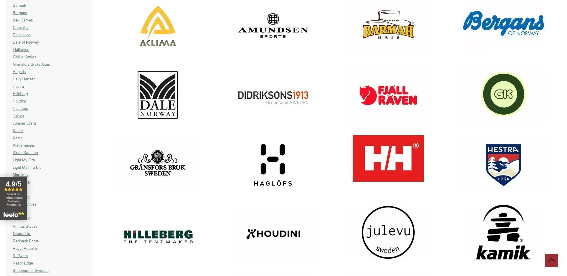 Nordic Outdoor Website Development Brands