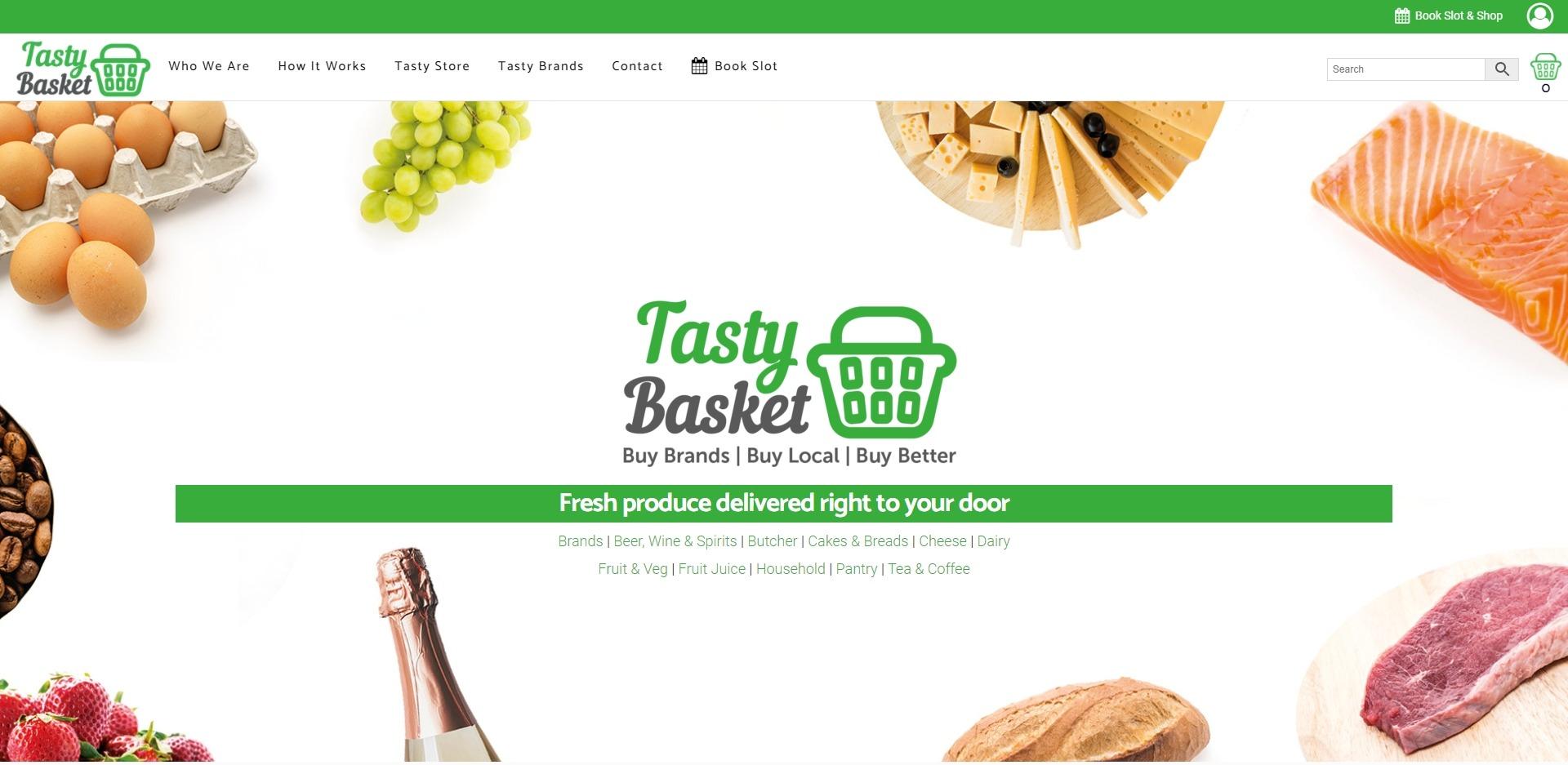 Tasty Basket Website Design