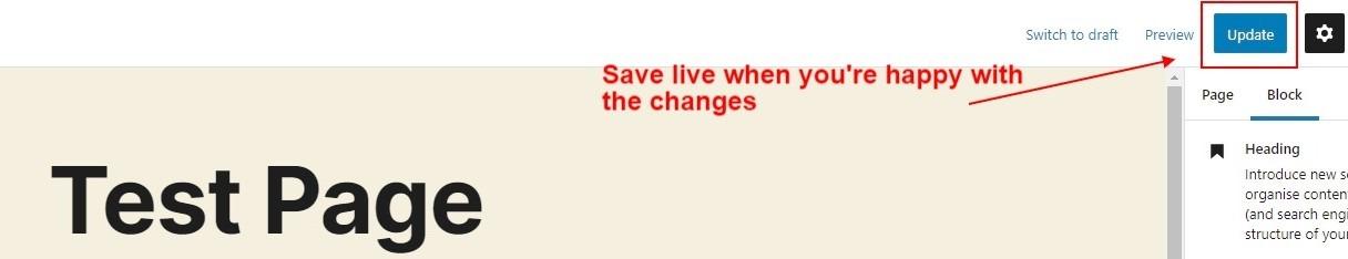 Saving Your Work Gutenberg
